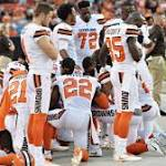 12 Browns players kneel in prayer over racial, social injustice