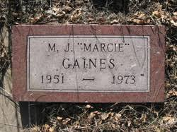 "M. J. ""Marcie"" Gaines (1951-1973) - Find A Grave Memorial"