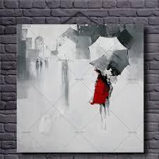 100 handmade oil painting on canvas abstract modern htb1gyegpfxxxxb5xxxxq6xxfxxxi htb1pxpipfxxxxahaxxxq6xxfxxxx htb1r7ecpfxxxxcwxxxxq6xxfxxxa  on girl with umbrella wall art with walk girl in red umbrella rain picture oil painting on canvas home