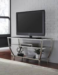 black and chrome furniture. Blasney Black And Chrome TV Stand Furniture