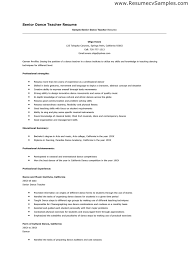 Dance Instructor Resume Beauteous Dance Instructor Resume Sample Talktomartyb