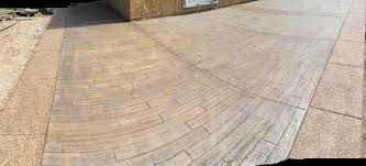 stained stamped concrete patio. Northwest Decorative Concrete Installs Stamped Driveways, Sidewalks, Patios, Epoxy Flooring, Stained Concrete, Patio