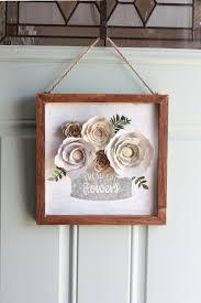 farmhouse cricut paper flowers front door decoration