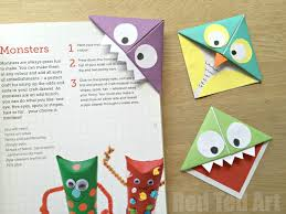red ted art book monster corner bookmarks and owls red ted art s of red