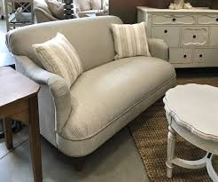 Sofa chair and zinc top tables from Magnolia Home by Joanna