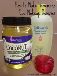 easy homemade eye makeup remover made from coconut oil and baby shoo sharonlhes