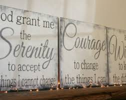 >religious wall decor etsy serenity prayer wood sign god grant me the serenity to accept the things i cannot change christian wall art religious wall decor shabby chic