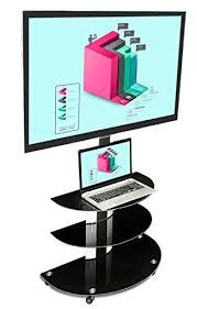 mobile tv stand with mount. MountIt TV Cart Mobile Stand With Mount And AV Throughout Tv