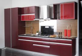 kitchen furniture cabinets. Full Size Of Trendy Maroon High Gloss Kitchen Cabinet Hanging Range Hood Wooden Laminate Backsplash Stainless · Furniture Cabinets