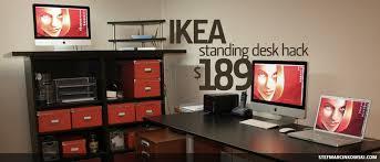 Standing Office Desk Ikea IKEA Standing Desk Hack Office Ikea