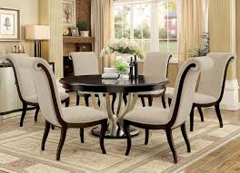 furniture of america espresso champagne round dining set