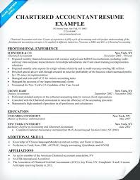 Resume For An Accountant Chartered Accountant Resume Accounting