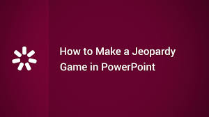 How To Make A Game In Powerpoint How To Make A Jeopardy Game In Powerpoint Youtube