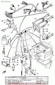 yamaha ls2 1972 usa electrical schematic partsfiche electrical schematic