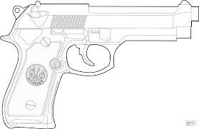 Beretta Handpistool Kleurplaat Gratis Kleurplaten Printen