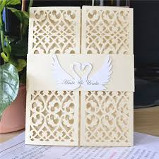 Us 37 8 Swan Blank Invitations Wedding Card Designs Laser Cut In Cards Invitations From Home Garden On Aliexpress