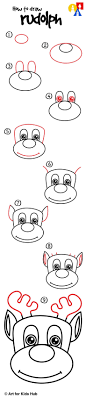 How To Draw Rudolph Art For