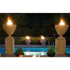 outdoor fire column columns and bowls on gardens patriots pits target gas