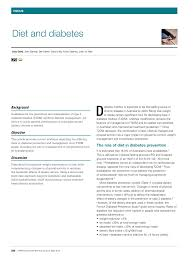 Diet Chart For Prediabetes Pdf Diet And Diabetes