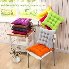dining with ties kitchen garden full size seat mat pad cushion chair with tie chunky armchair cushions loading light blue padded for garden