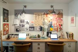cork boards for office. Fine Boards Office For Two With Gray Bulletin Board Industrial Sconces Wood Top Desk  Supported By White Filing Cabinets And Ar With Cork Boards For Office F