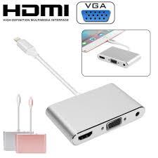 lightning to hdmi vga digital av adapter cable for apple iphone x 6 7 8plus ipad