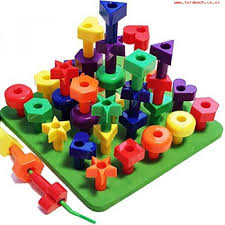 lacing peg board building toddler toys 36 pc montessori shapes puzzle for 2 3