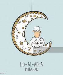 Eid Al Adha Mubarak Hand Gezeichnet Plakat Stock-Illustration - Getty Images