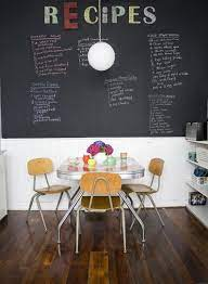 don t use chalkboard and magnetic paint