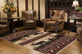 woodland sunset elk room size rug