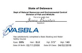 Boater Safety Online Course Delaware-official