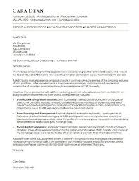 Simple Resume Cover Letter Examples Lovely Brand Ambassador Cover