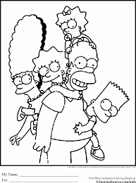 The Simpsons Coloring Pages Coloring Pages Pinterest Ruva