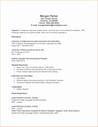Student Teaching Resume Samples Awesome Resume Templates Foreign