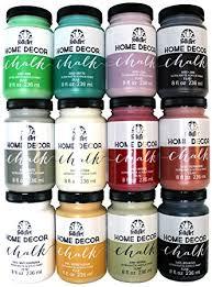 Small Picture Amazoncom FolkArt Home Decor Chalk Paint Set 8 Ounce PROMO845