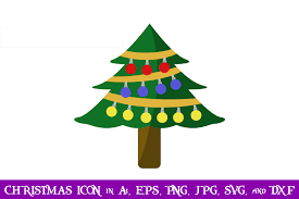 Christmas Tree Christmas Icon Graphic By Purplespoonpirates Creative Fabrica