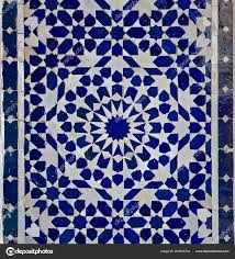 Moroccan Tile Pattern Simple Traditional Ornate Moroccan Tile Pattern Riad Morocco Stock Photo