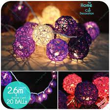 Masquerade Ball Decorations Diy Custom Decoration Diy 32 Leds Rattan Ball White Pink Purple Christmas