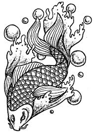 Small Picture Animal coloring pages for adults koi fish ColoringStar