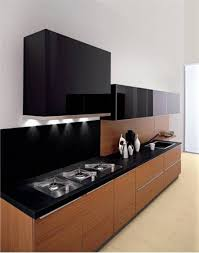 Modern Black Kitchen Cabinets Ideas Simple For Under Cabinet Lighting Modern Black Wooden