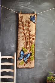 Hanging Rugs 215 Best Latch Hook Images On Pinterest Wall Hangings Latch