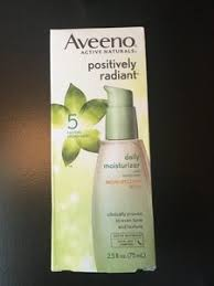 new aveeno positively radiant daily moisturizer with spf 30