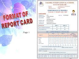 School Report Card Format Comprehensive Evaluation Tagore International School Ppt Video