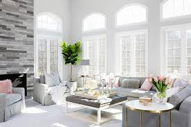 pink and gray living room color scheme