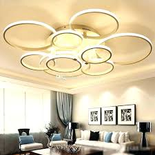 imposing led chandelier lighting and modern acrylic ring circle