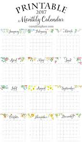 Free Printable Monthly Calendar Includes Year At A Glance Individual ...