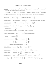 fluid dynamics equation sheet. physics 2 formulas. almost every formula you need. fluid dynamics equation sheet y