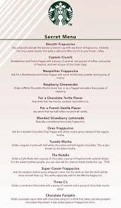 starbucks secret menu. Fine Menu Starbucksu0027  With Starbucks Secret Menu T