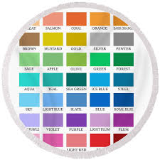 Skyline Series Color Chart Round Beach Towel