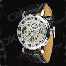 men s stylish skeleton manual winding mechanical wrist watch men s stylish skeleton manual winding mechanical wrist watch silver